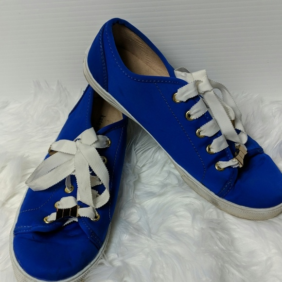 Kate Spade Shoes - KATE SPADE Lodero Low Top Blue Ribbon Tennis Shoes